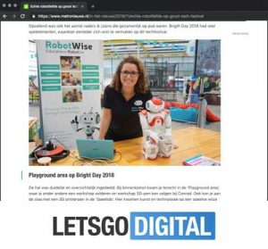 Letsgodigital over Robotwise op Bright Day